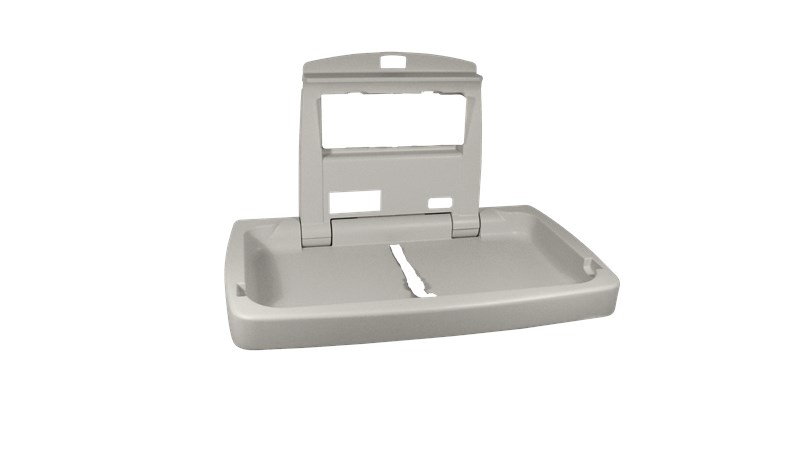 RUBBERMAID FG781888LPLAT - Horizontal Baby Changing Station