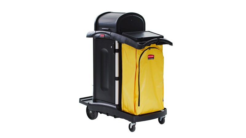 RUBBERMAID FG9T7500BLA - Janitorial Cleaning Cart With Doors/ Healthcare Cart