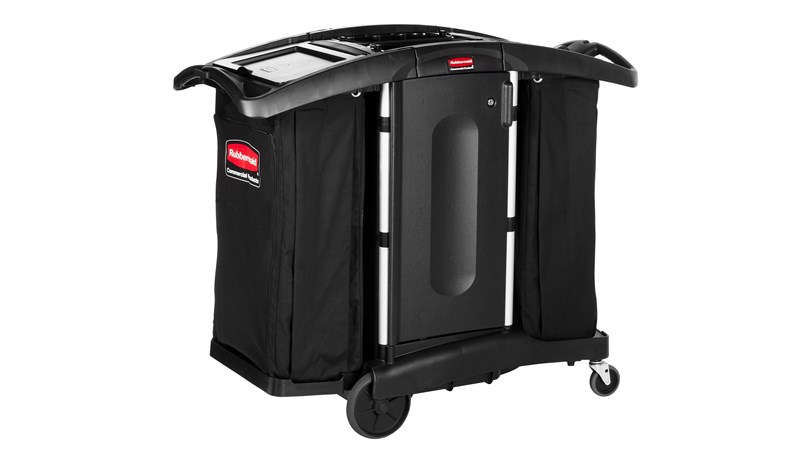 RUBBERMAID FG9T7600BLA - Compact Fold-Away Housekeeping