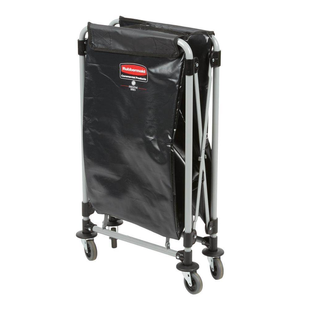 Rubbermaid_FG1881749_Collapsible X frame 2 - Collapsible X-Cart 4Cap Bushel Single Stream- Black