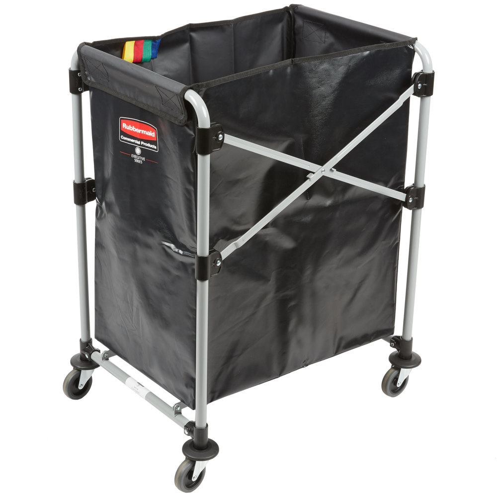 RUBBERMAID FG1881749 - Collapsible X-Cart 4Cap Bushel Single Stream- Black