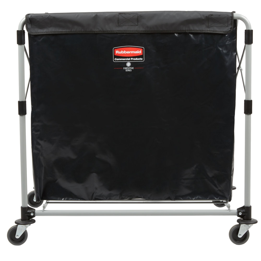 Rubbermaid_FG1881750_X Cart 8 1 - Collapsible X-Cart 8Cap Bushel Single Stream- Black