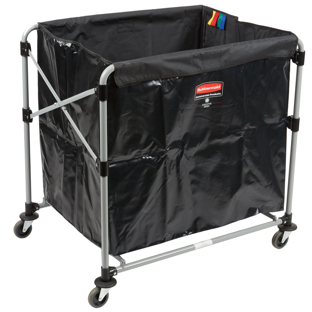 RUBBERMAID FG1881750 - Collapsible X-Cart 8Cap Bushel Single Stream- Black