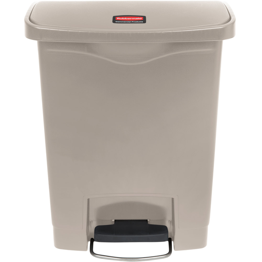 - Slim Jim 8gal Step on Front Stop- Beige