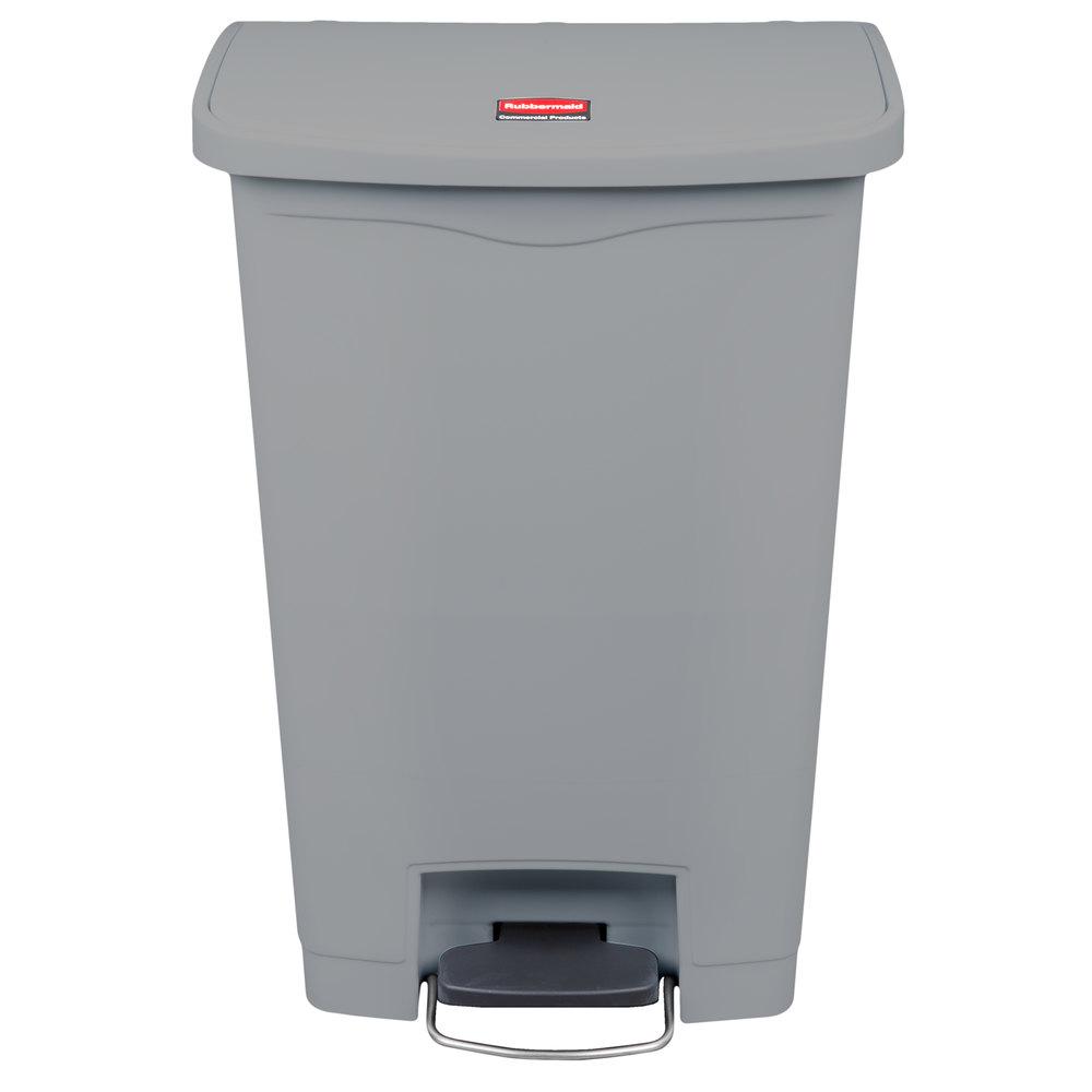 RUBBERMAID FG1883606 - Slim Jim 90L/24Gal W/O Liner Step On- Gray