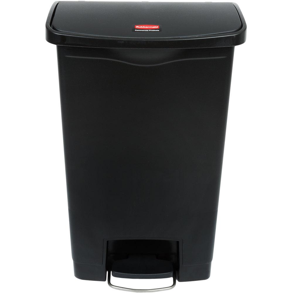 RUBBERMAID FG1883611 - Slim Jim 50L/13Gal W/O Liner Step On- Black