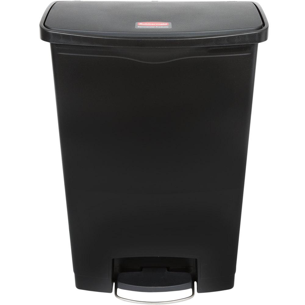 RUBBERMAID FG1883615 - Slim Jim 90L/24Gal W/O Liner Step On- Black