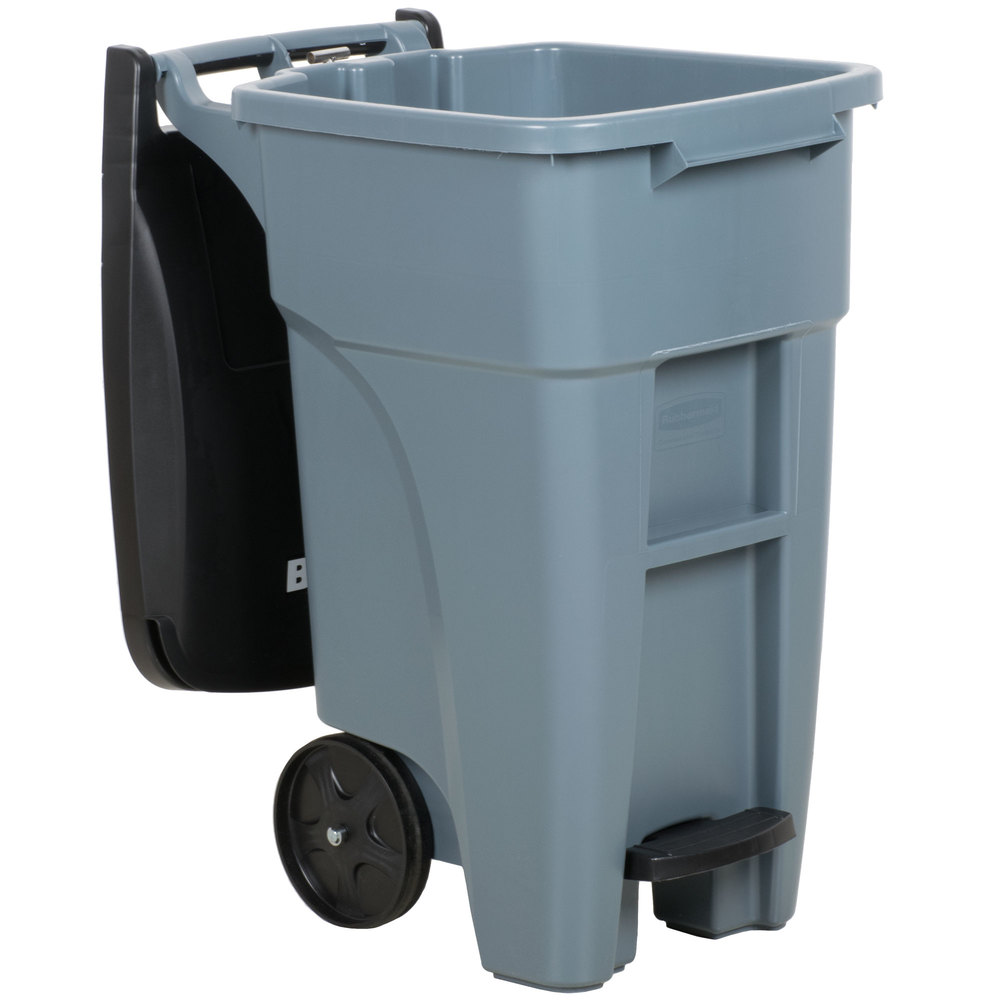 RUBBERMAID_FG1971944_Roll out Trash container 32gal Gray - Brute 32gal Step On RollOut Container- Gray