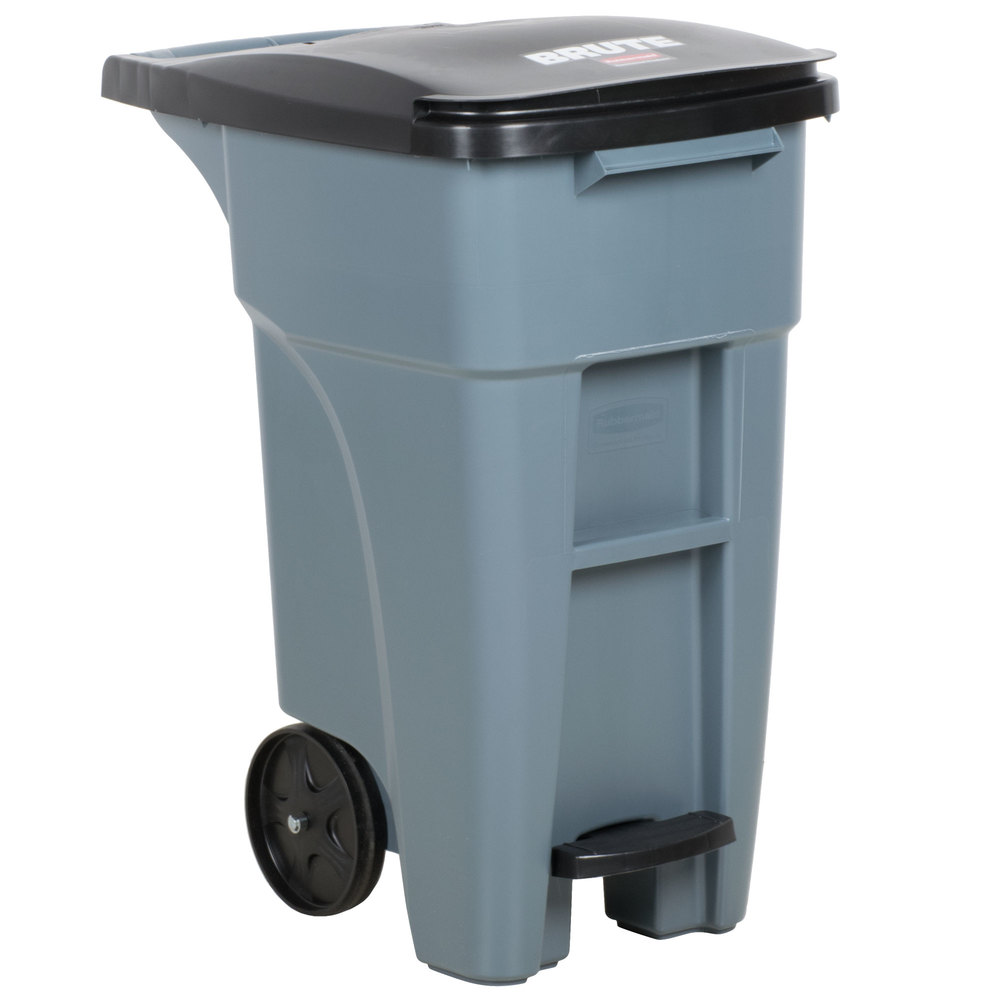 Rubbermaid_FG1971944_Roll out Trash container 32gal Gray