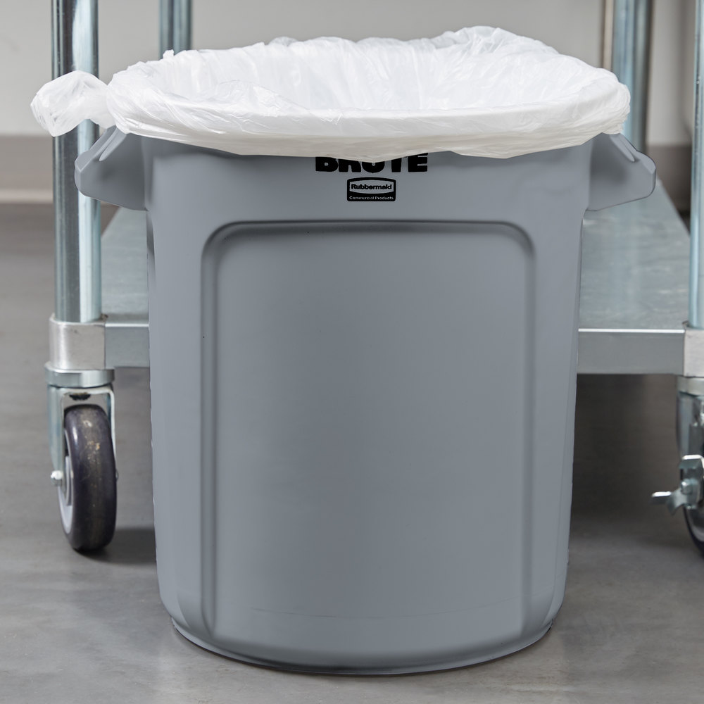 Rubbermaid_FG261000GRAY_Brute 1gal gray - Gray Brute Cont. 38L W/Out Lid