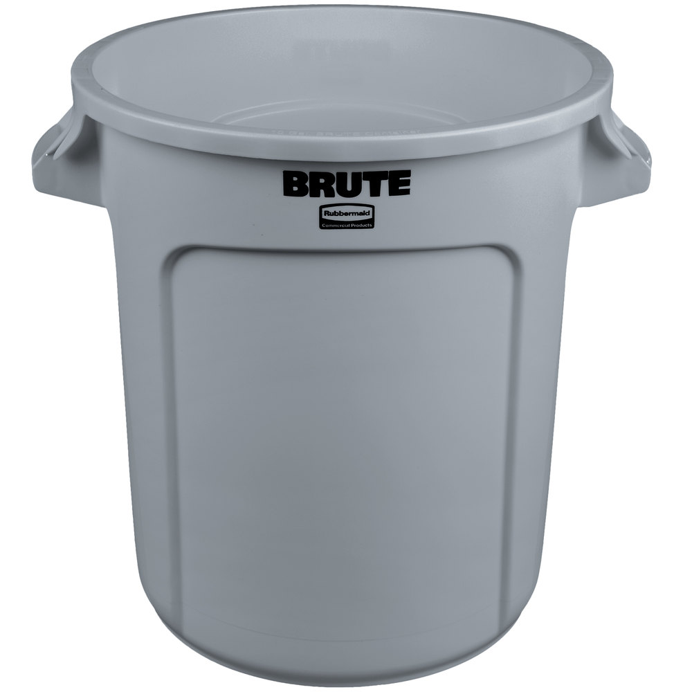 RUBBERMAID FG261000GRAY - Gray Brute Cont. 38L W/Out Lid