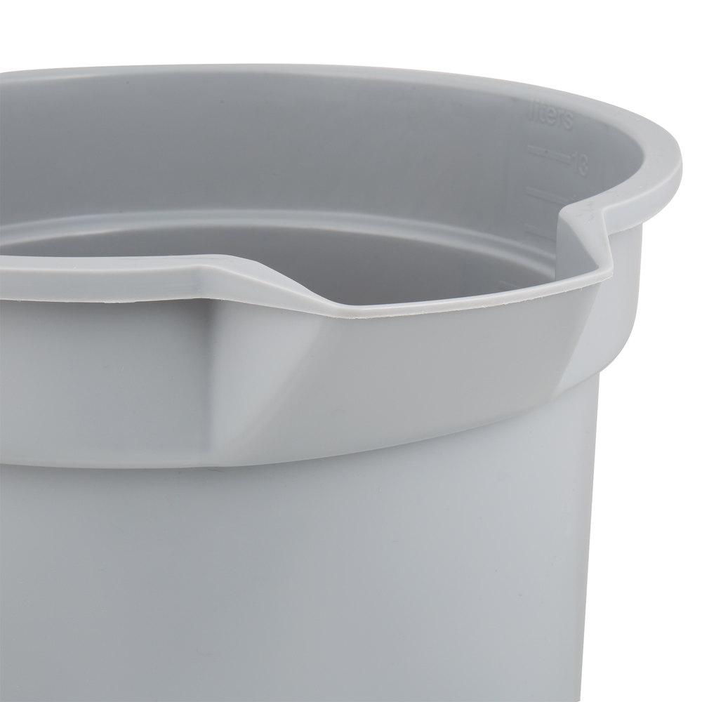 Rubbermaid_FG261400GRAY_Brute 14 Gray 1 - Round Bucket Gray- 14Cap