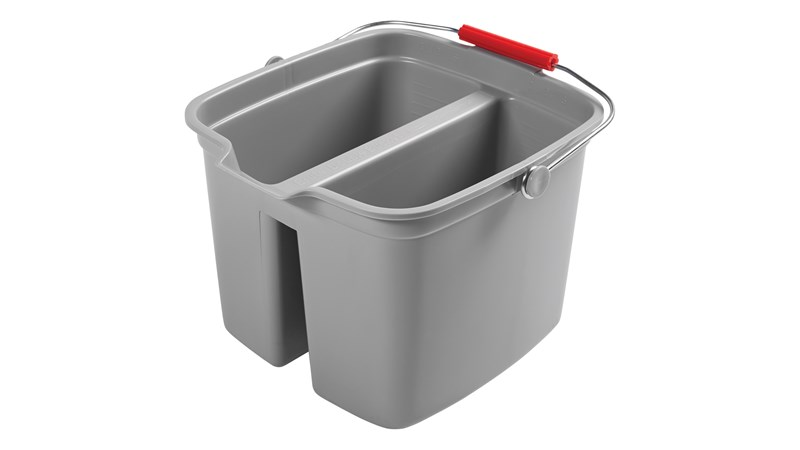 Rubbermaid_FG261700GRAY_Double Pail Gray