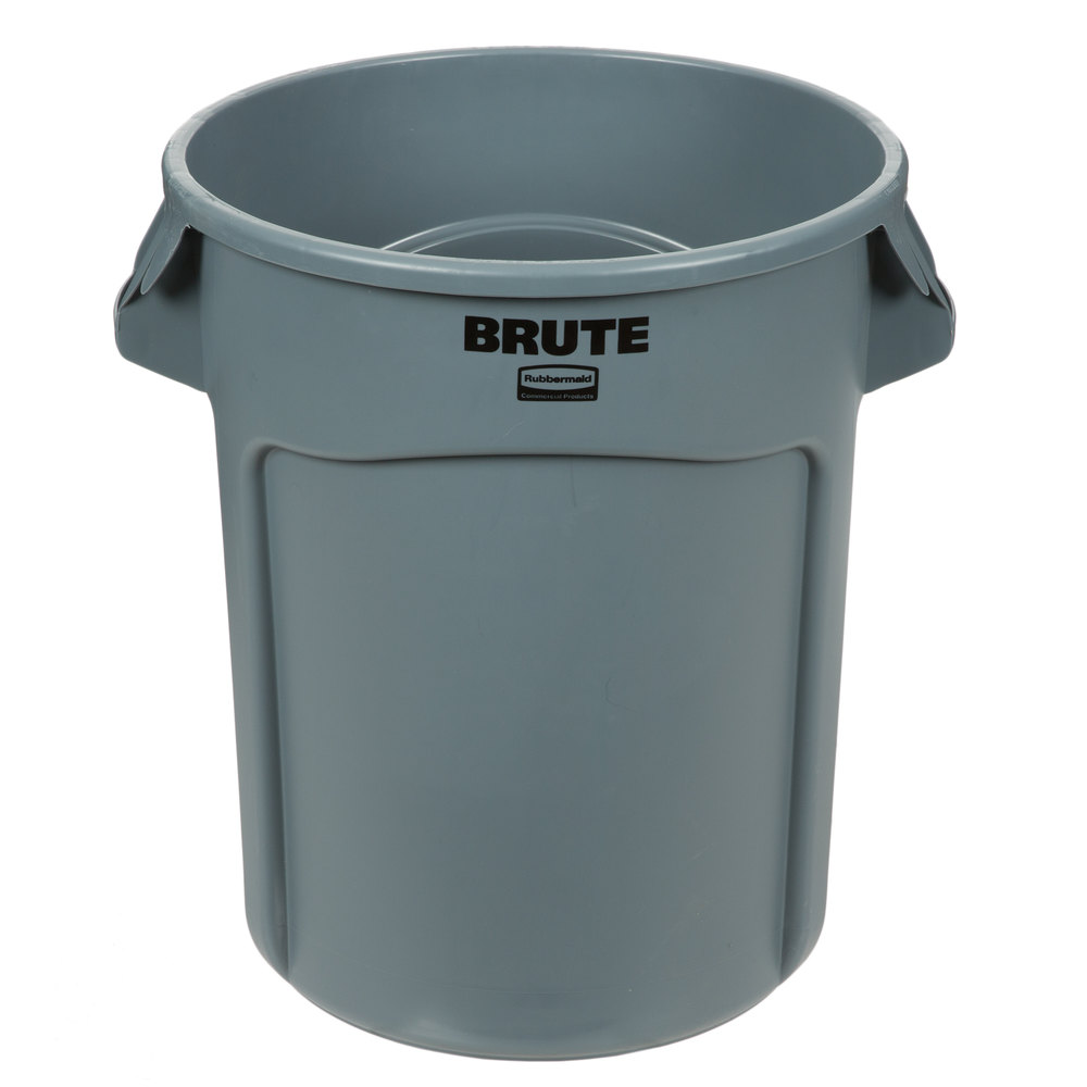 RUBBERMAID FG262000GRAY - BRUTE 20 Gallon Gray Trash Can