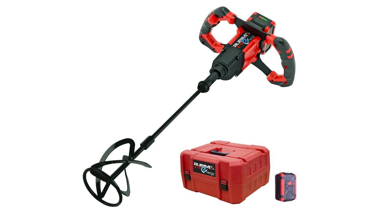Rubi 26965 - 18V Cordless Electric Paddle Mixer Brushless Motor 50-60Hz , Rubimix E-10 Energy