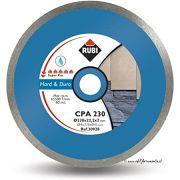 Rubi 30926 - 8″ Hard Material Continuous Rim Diamond Blade, CPA-200 SUPERPRO