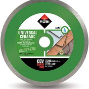 Rubi 30949 - 10″ Ceramic Tiles Continuous Rim Diamond Blade, CEV-250 SUPERPRO