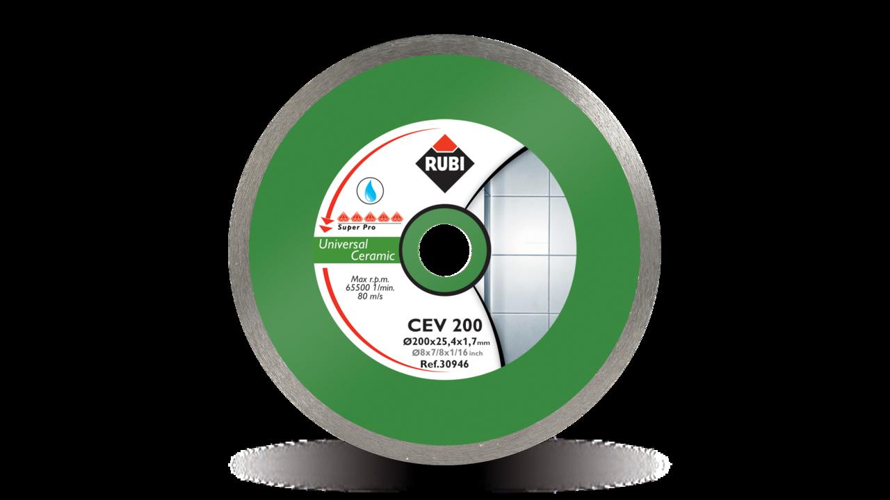 Rubi 30950 - 12″ Ceramic Tiles Continuous Rim Diamond Blade, CEV-300 SUPERPRO