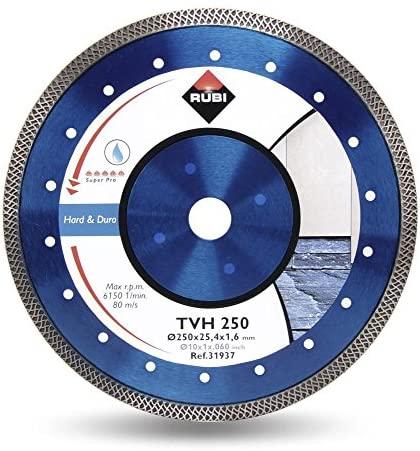 Rubi 31937 - 10″ Hard Material Turbo Viper Diamond Blade, TVH-250 SUPERPRO