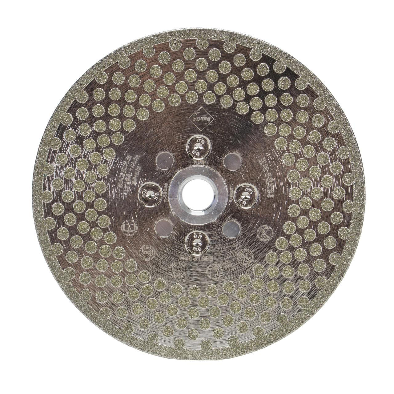 Rubi 31964 - Electroplated Cutting and Grinding Diamond Blade 115mm, ECD-115 2IN1 SUPERPRO