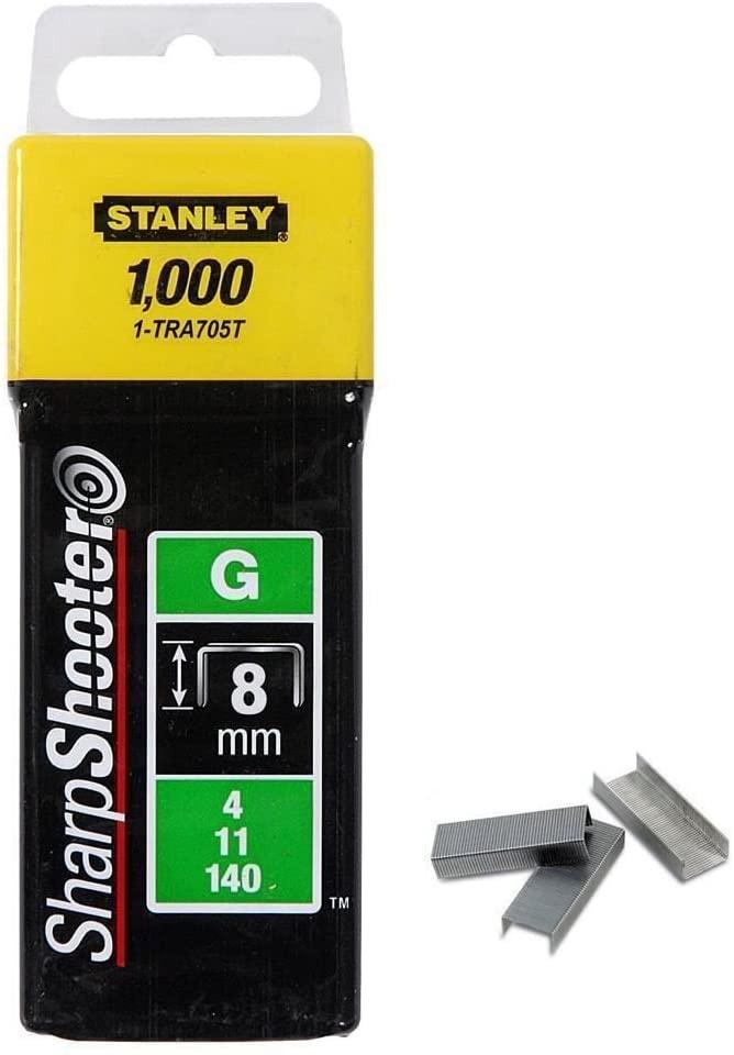STANLEY 1-TRA705T - Heavy Duty Staples – Type G, 5/16in – 1000Piece