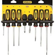 STANLEY 0-60-100 - 10 Pieces Fluted Screwdriver Set