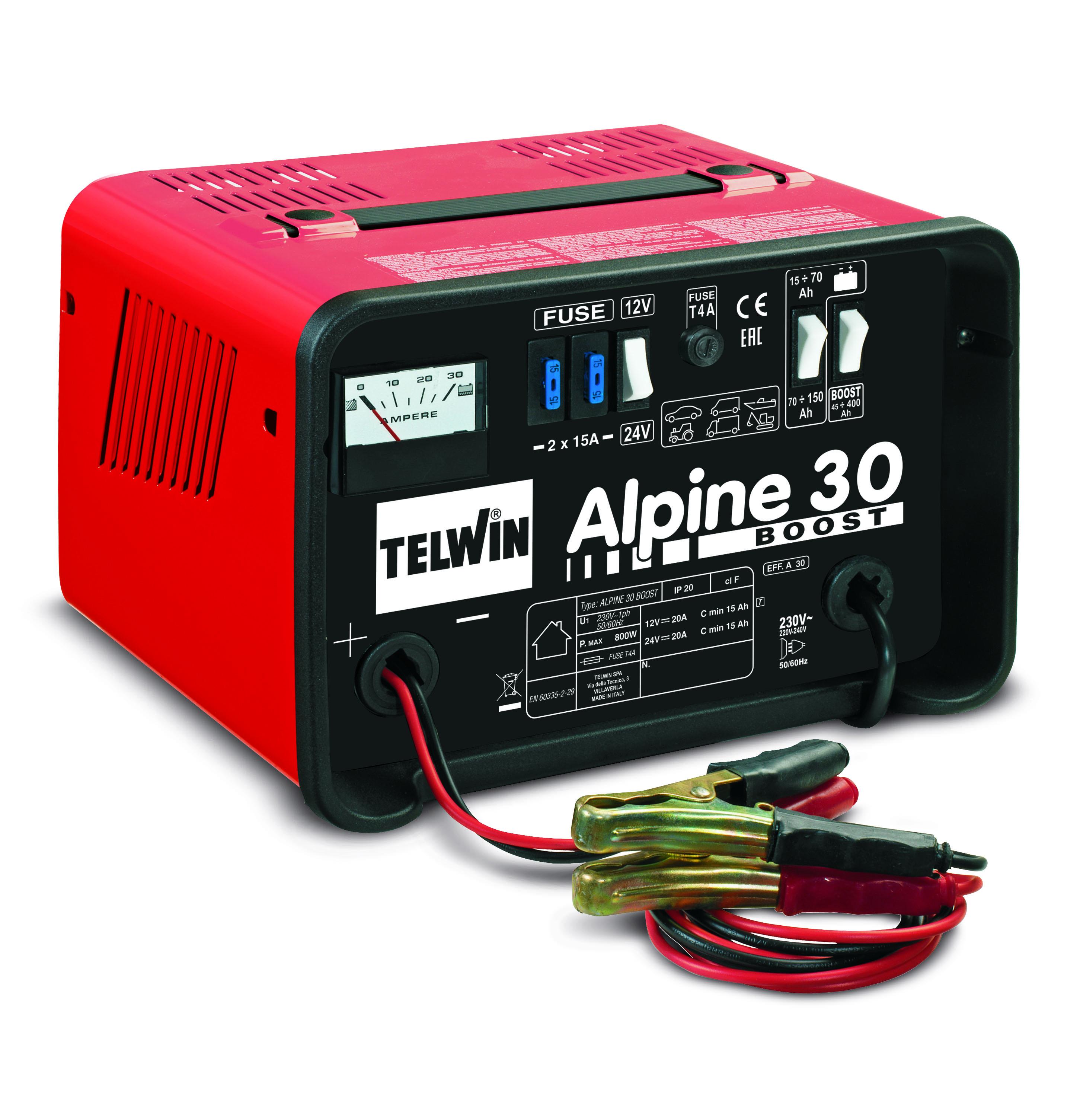 TELWIN 807547 - ALPINE 30 Boost Battery Charger, 230V 12-24V