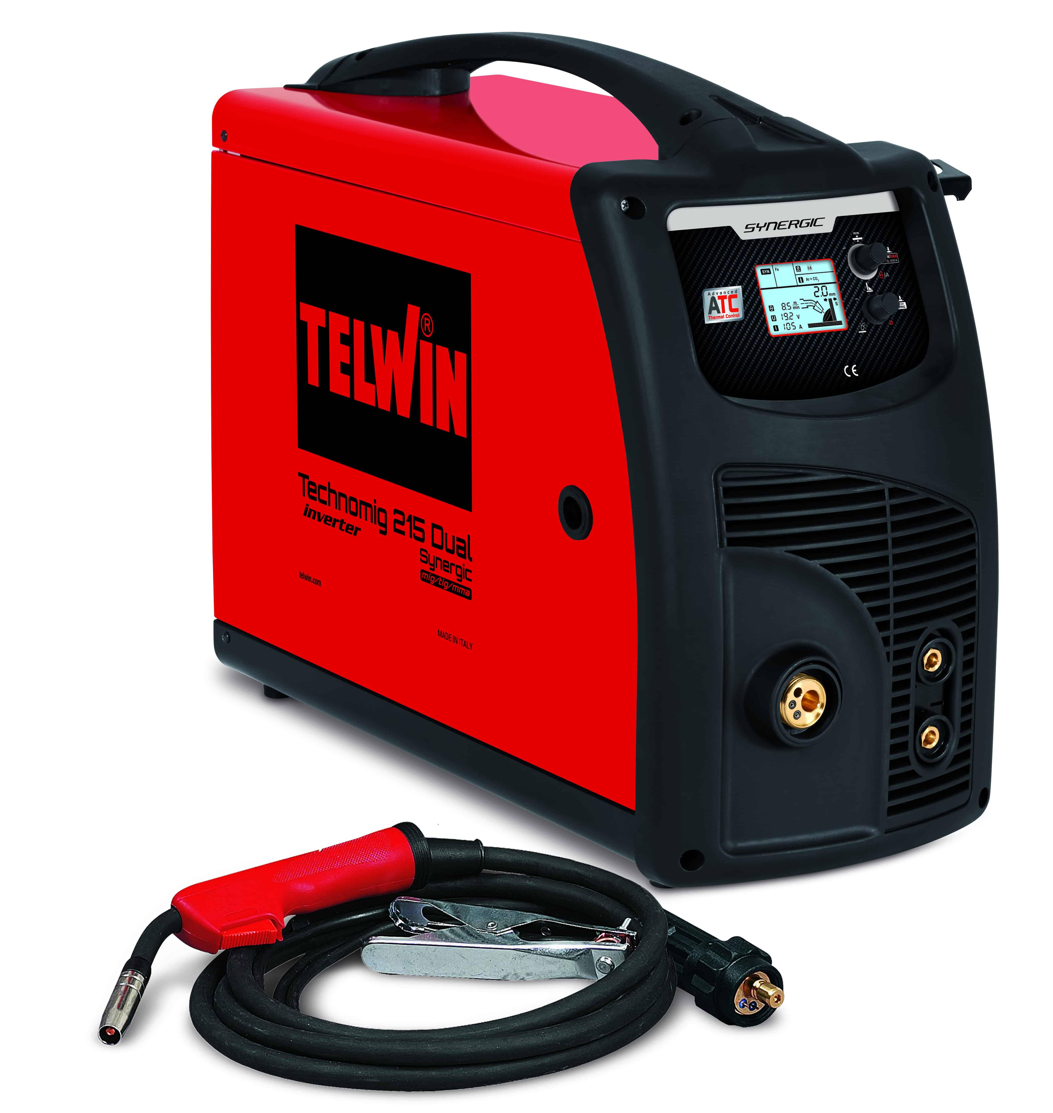 TELWIN 816053 - TECHNOMIG 215 DUAL SYNERGIC 230V, MIG-MAG welding machine, P-Max(5kW)