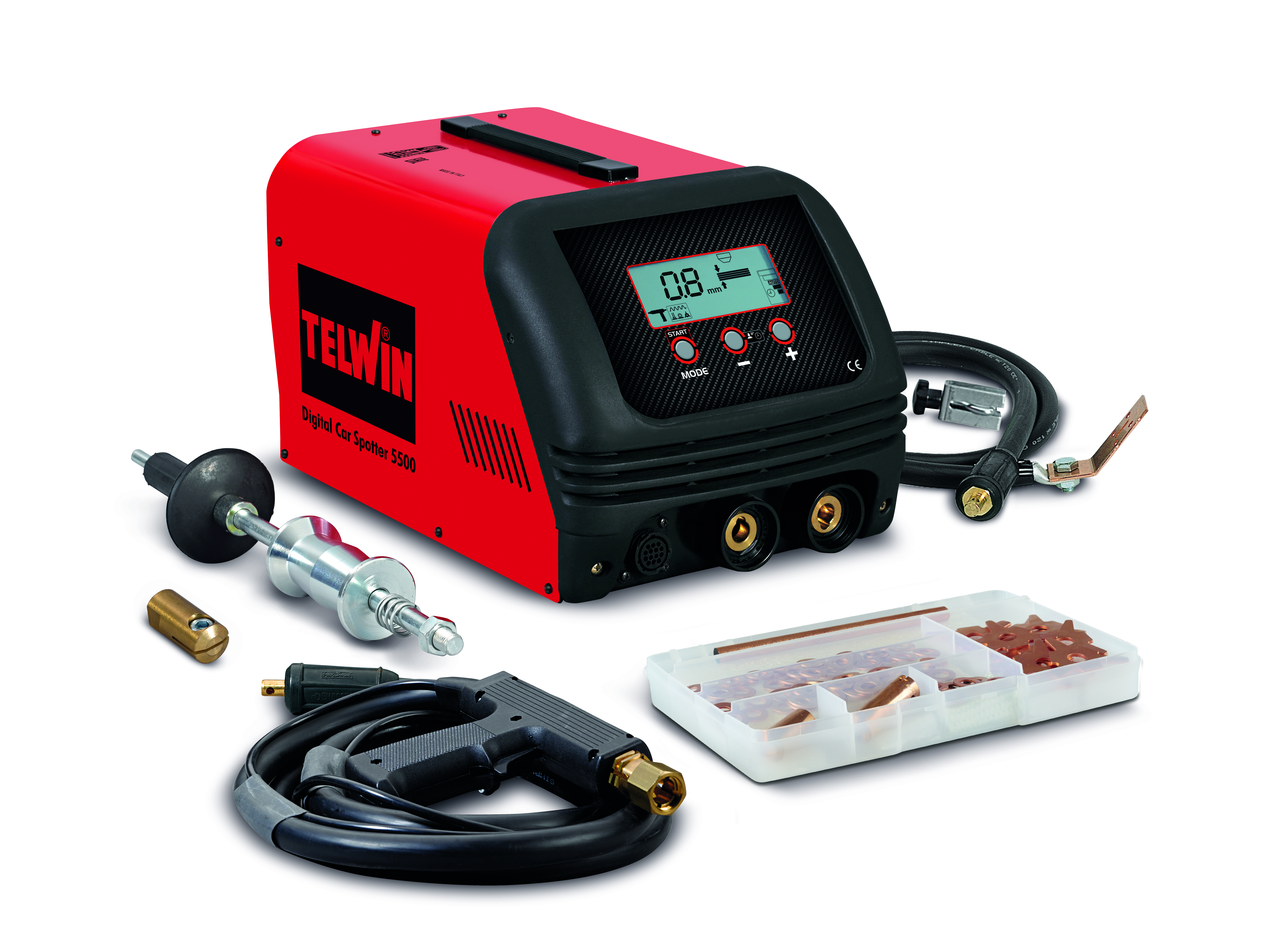 TELWIN 823219 - DIGITAL CAR SPOTTER 5500 230V + ACC, Spot Welding Machine