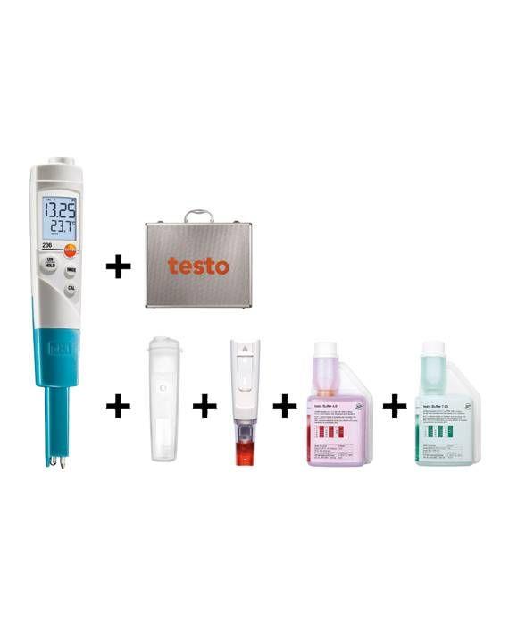 TESTO 206-PH1-KIT - PH-Temperature Measuring Instrument For Liquids – Starter Kit