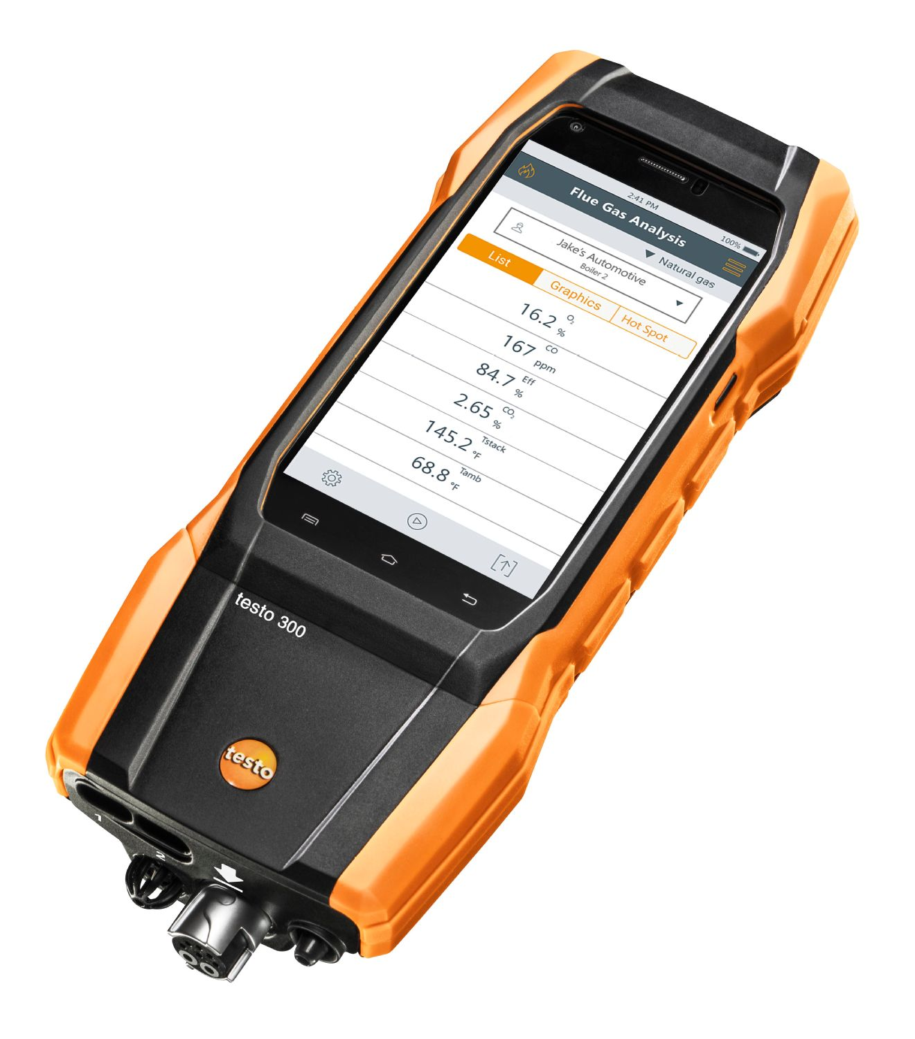 TESTO 300 - Residential / Commercial Combustion Analyzer Kit with Printer (w/ O2 and CO 0-4,000 )