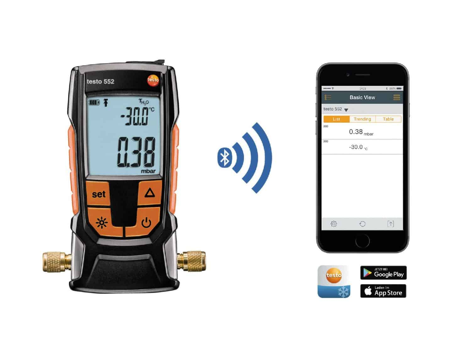 Testo_552_Digital Vacuum Gauge_HVACR - Digital Vacuum Gauge with Bluetooth