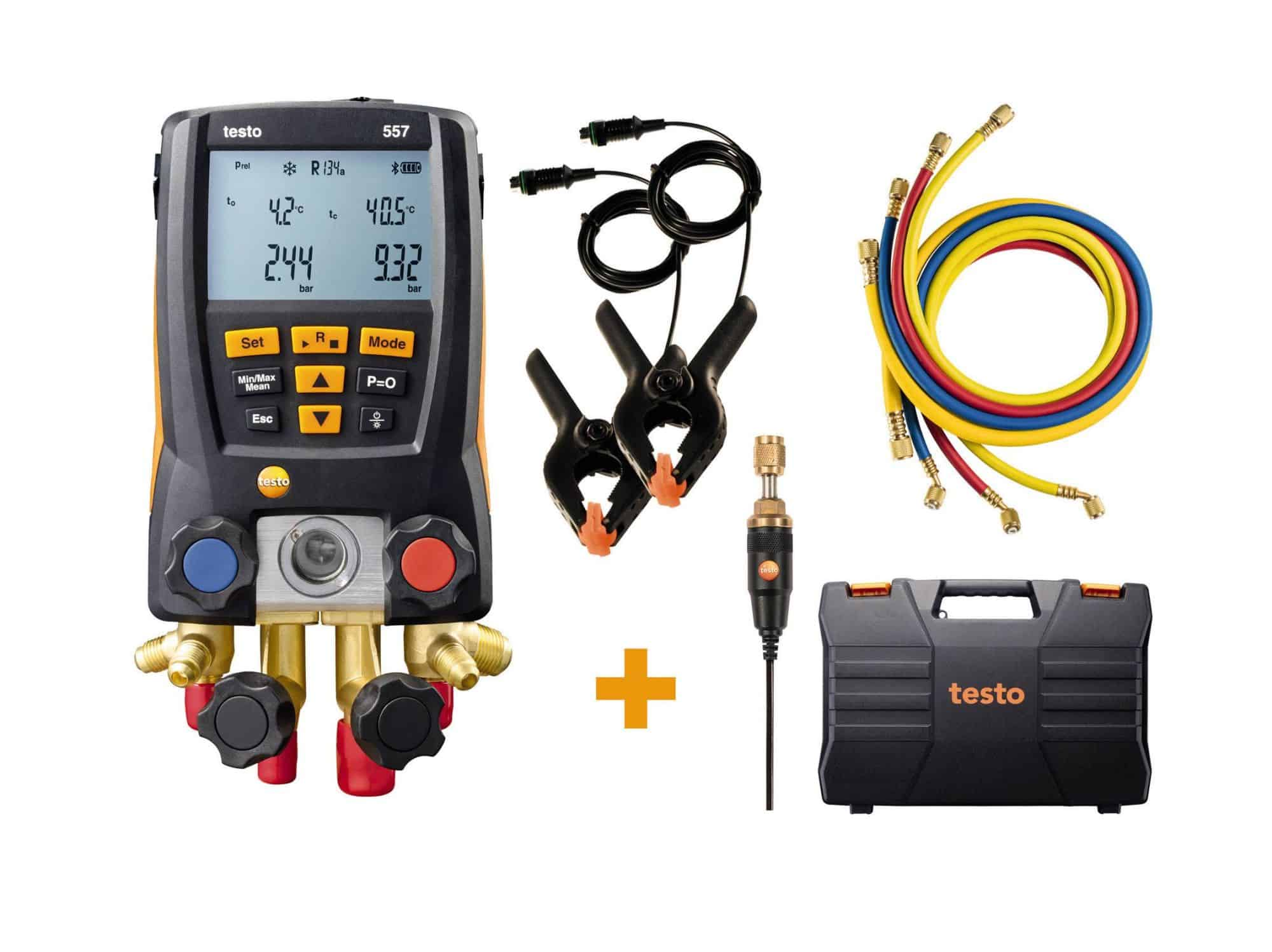 Testo_557_Digital Manifold - Digital Manifold Kit – With Bluetooth and set of 4 filling tubes