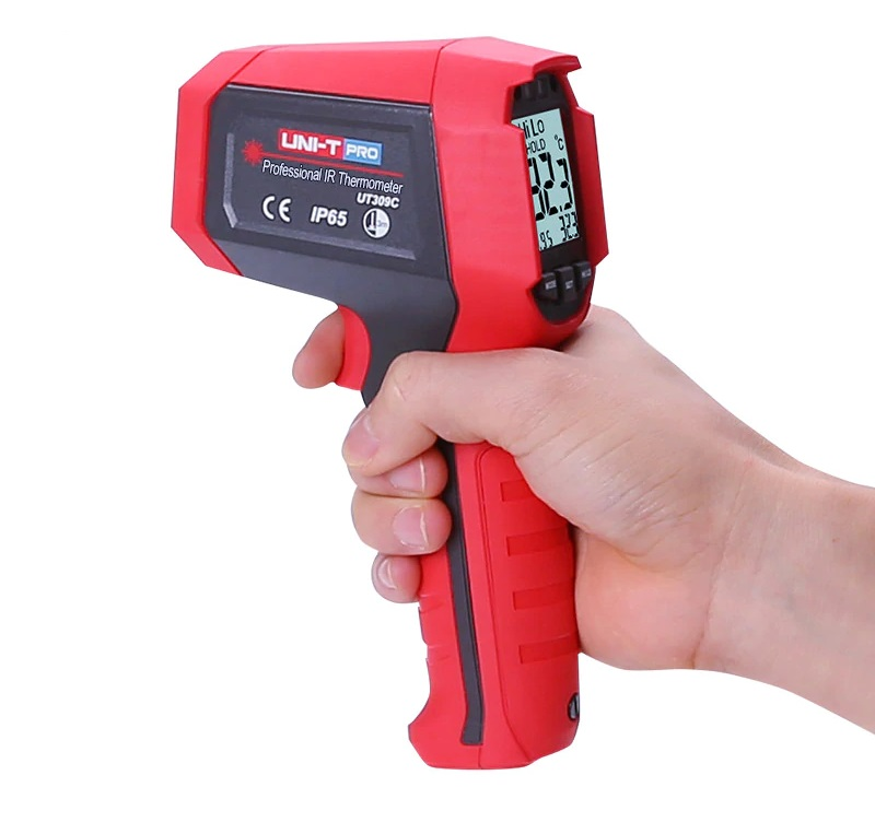UNIT_UT309C-Infrared Thermometer - HVAC Infrared Thermometer SGL Laser / IP54 / D:S Ratio- 12:1