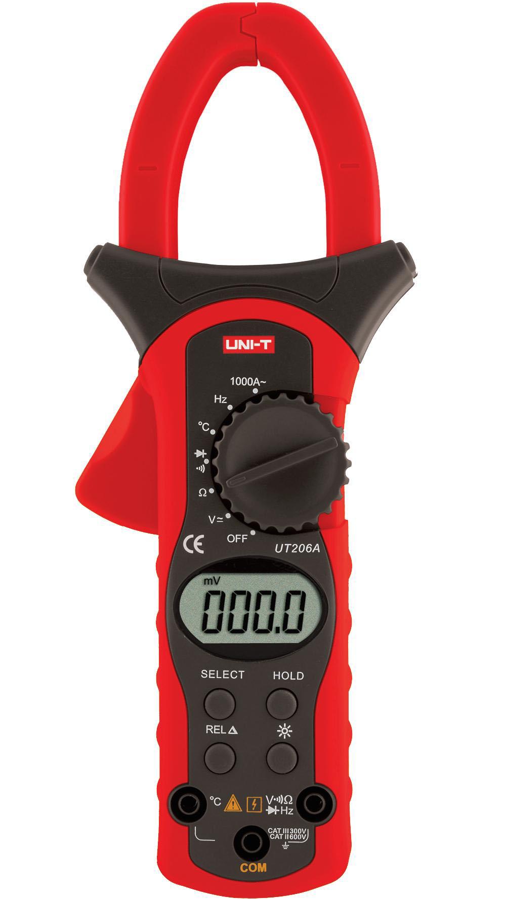 UNI-T UT206A - Digital Clamp Meters True RMS 1000A  (New); 400mV-600V