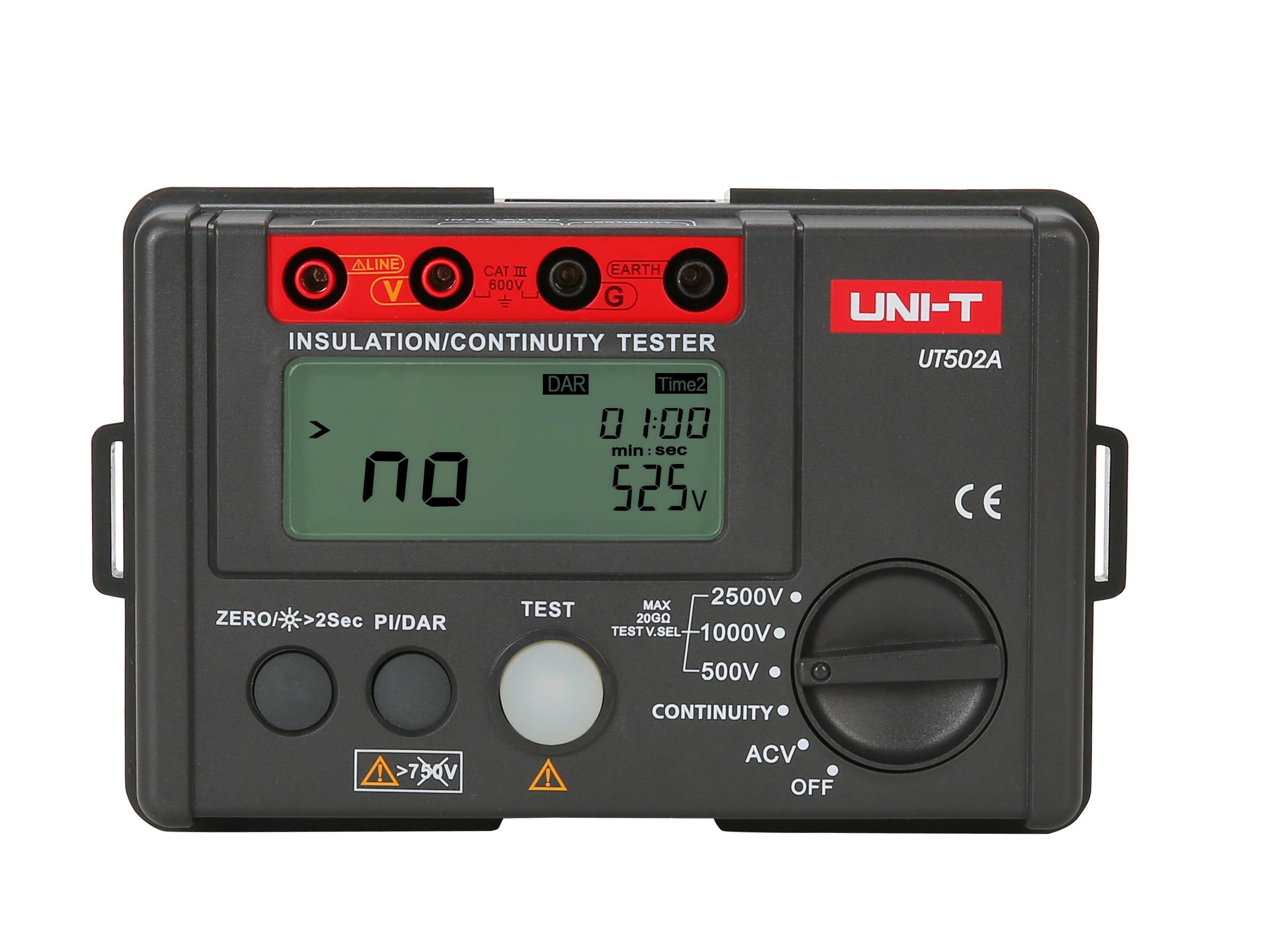 UNI-T UT502A - Insulation Resistance Tester 500-2500V; 30V-1000V