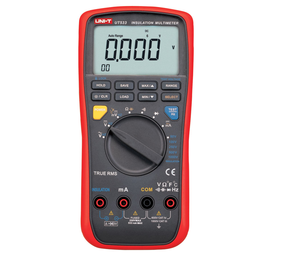 UNI-T UT533 - Insulation Resistance Multimeter  6V-1000V