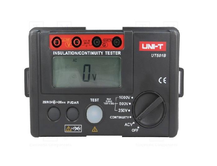 UNI-T UT501B - Insulation Resistance Tester 250V-1000VAC Volt:30V~600V