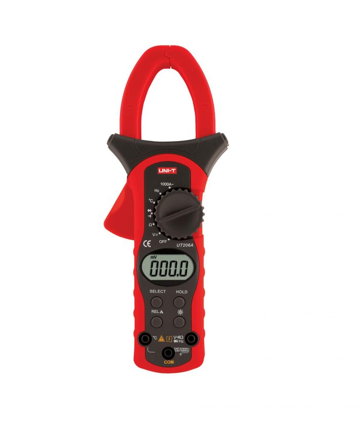 UNI-T UT206A - Digital Clamp Meters True RMS 1000A  (New); 400mV-600V