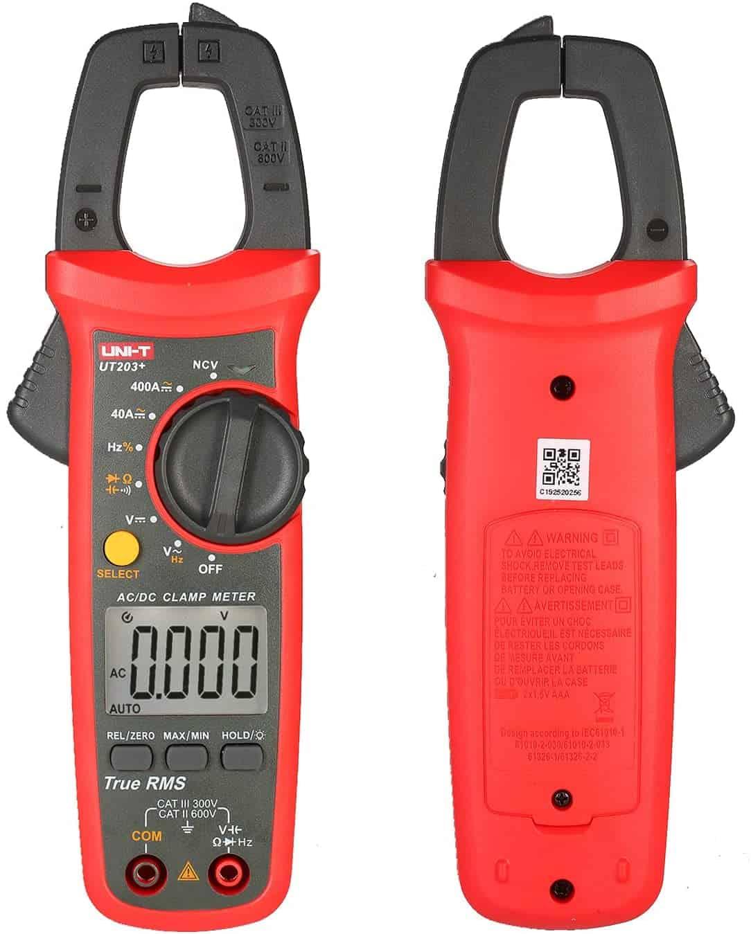UNI-T UT203+ - Digital Clamp Multimeter DC AC Current Voltmeter 400-600A