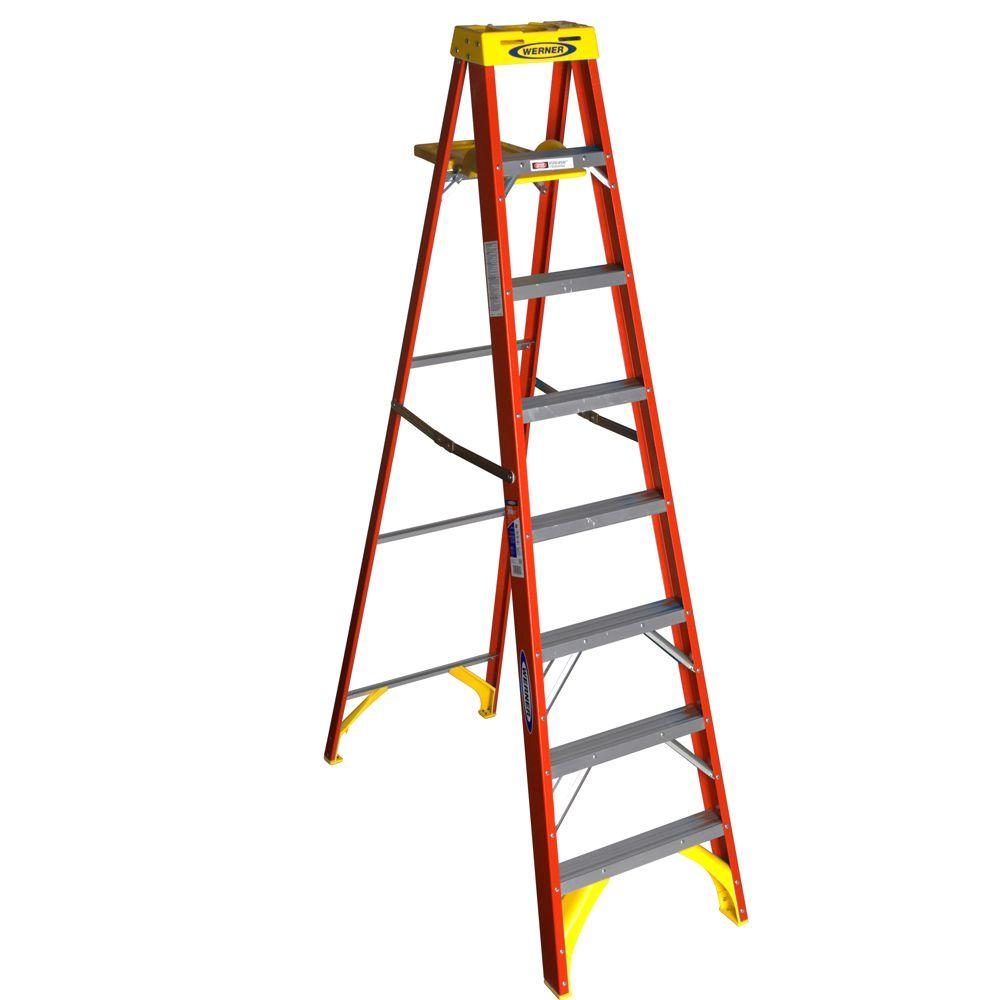 Werner_6208_Fiberglass Step Ladder