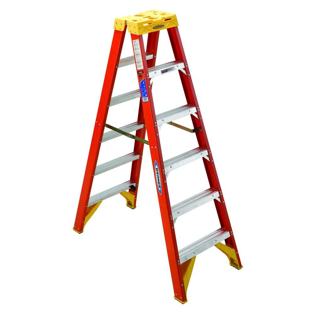 Werner_T6206_Fiberglass Step Ladder