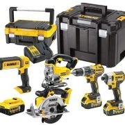 DeWALT DCK551P3T-GB - 18V Cordless 5 Piece Kit (3 x 5.0Ah Batteries) Charger and 2 x Kitboxes
