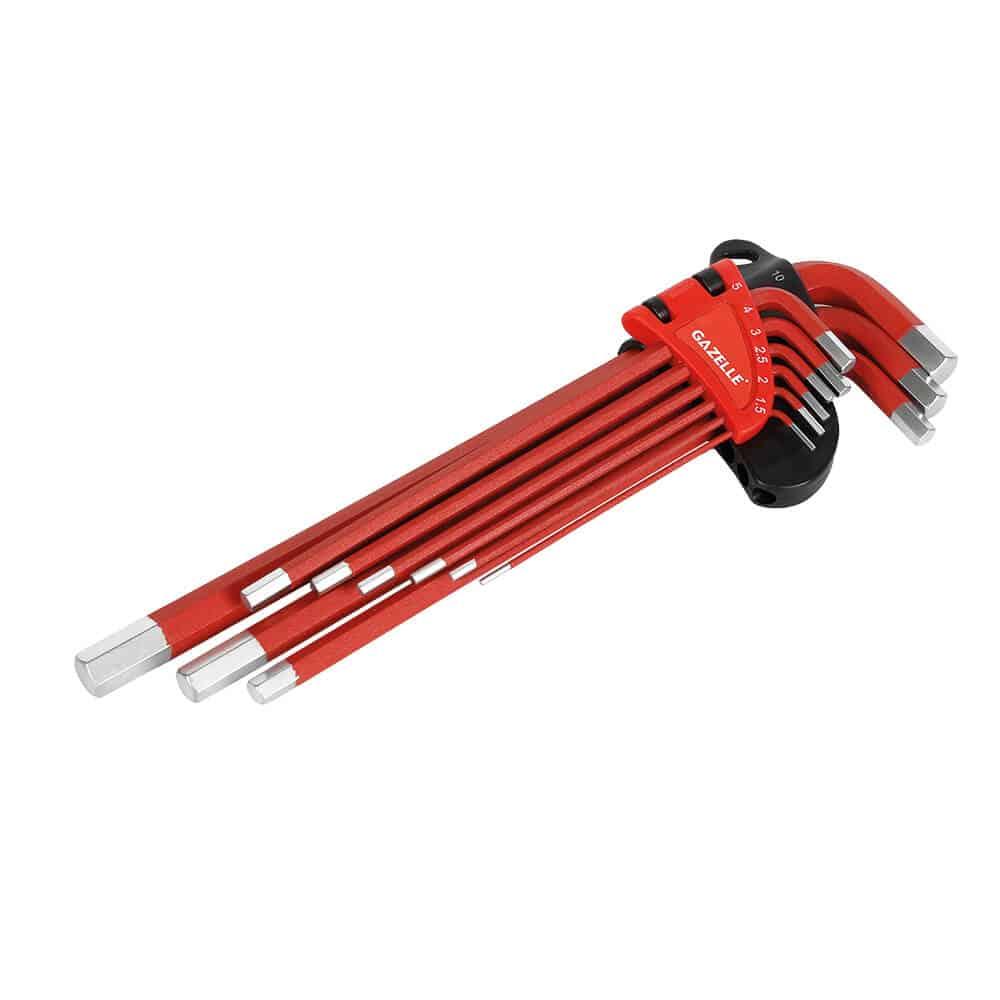 - 9 PC Long Arm Metric Hex Key Set