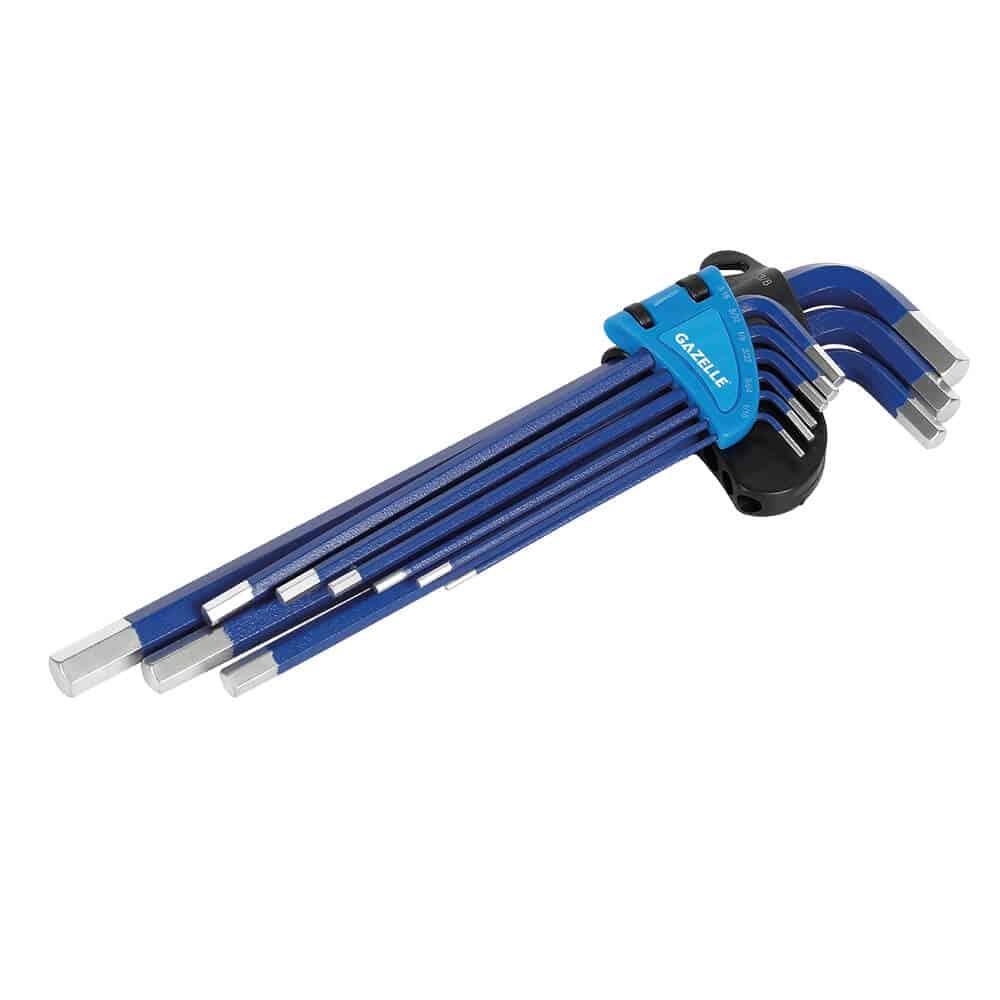 - 9 PC Long Arm Imperial Hex Key Set