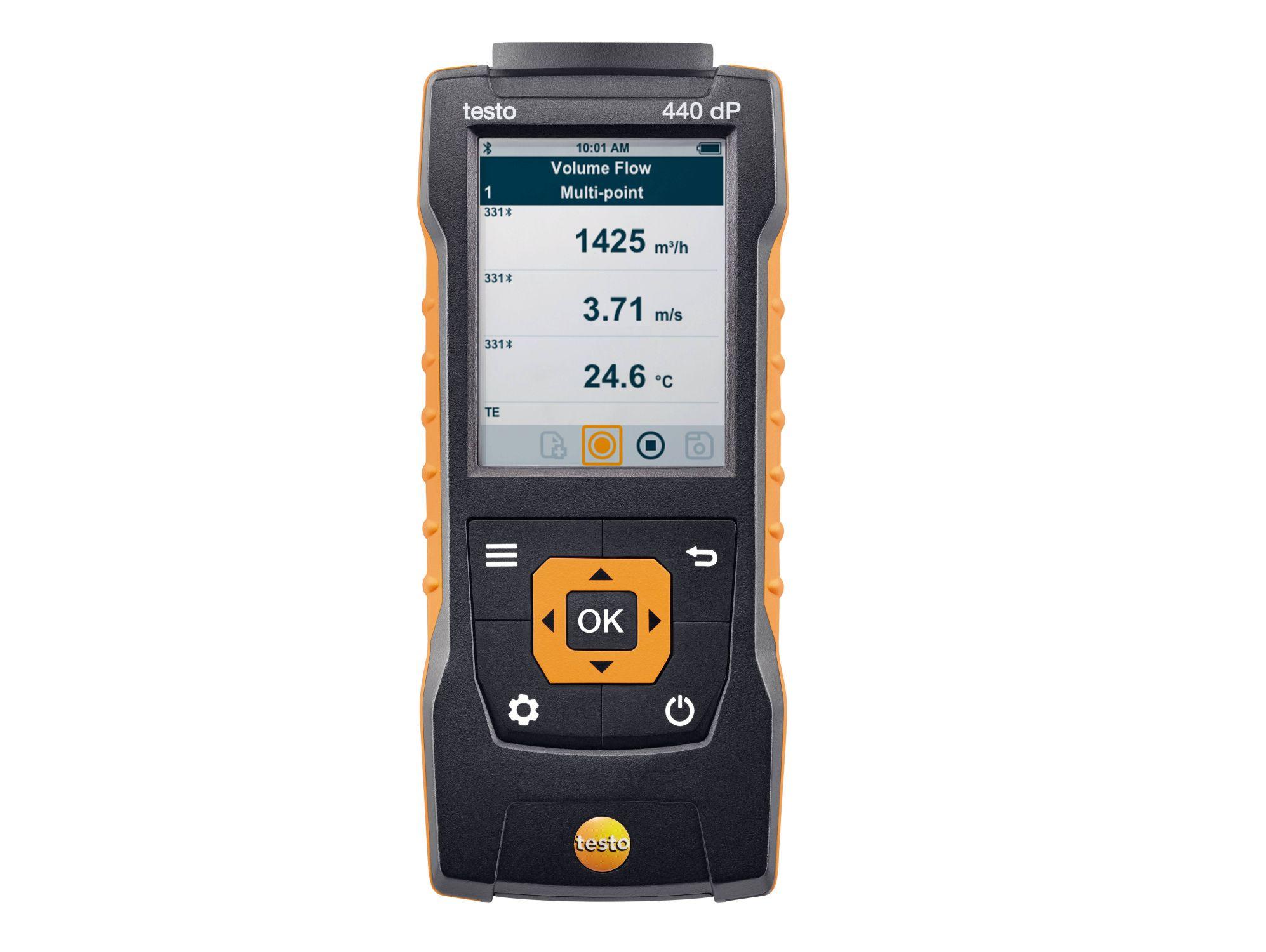 TESTO  440-dP - Air velocity and IAQ measuring instrument