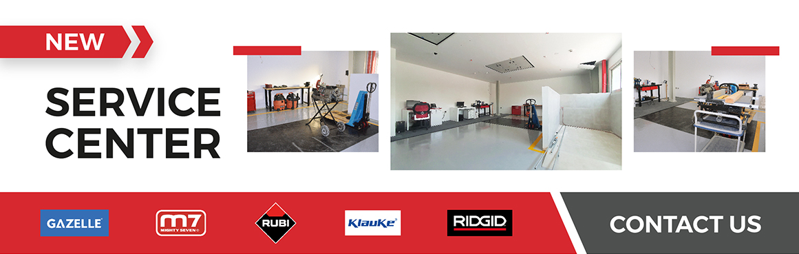 Service center now open for Rubi, Klauke, Ridgid, M7 and Gazelle